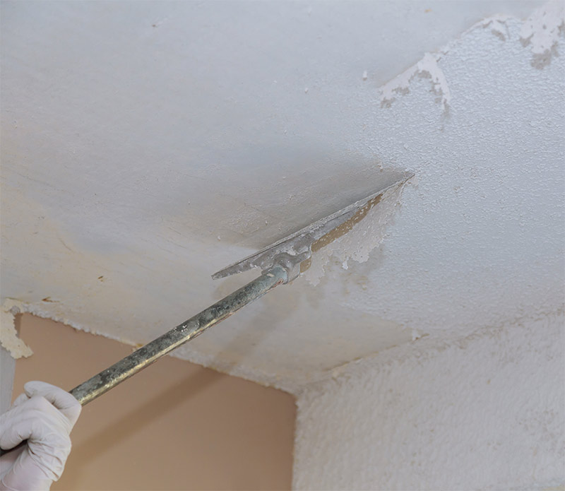 Asbestos Popcorn Ceiling Removal In